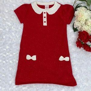 Little Girls Christmas 🎄 Sweater Dress Size 3Y